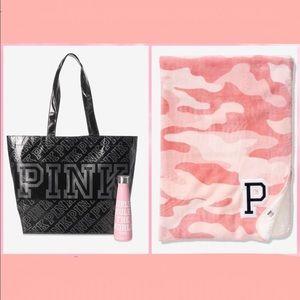Victoria's Secret PINK Sherpa Blanket Bottle Tote